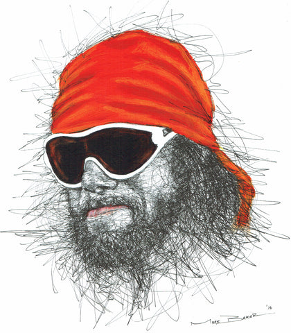 Macho Man Randy Savage scribble – print