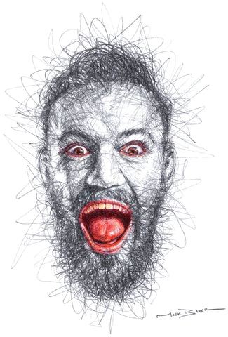 Conor McGregor scribble – print