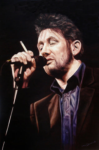 Shane MacGowan in Black – canvas print