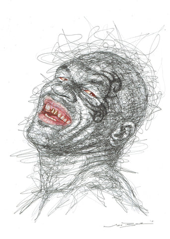 Mike Tyson Scribble Sketch