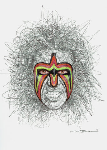 Ultimate Warrior Scribble Sketch
