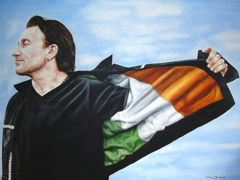Bono Ireland Flag  – canvas print