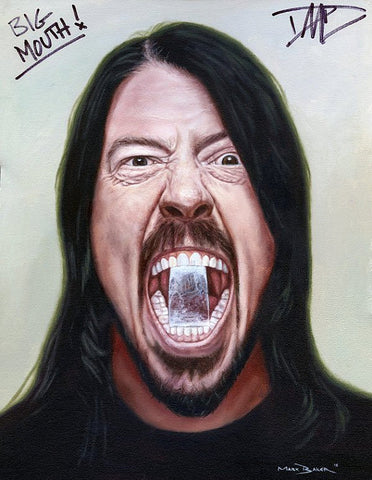 Dave Grohl 'Big Mouth' – canvas print