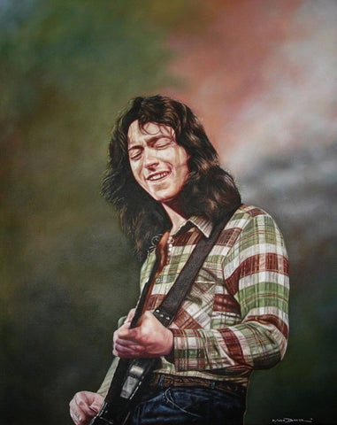Rory Gallagher Live – canvas print