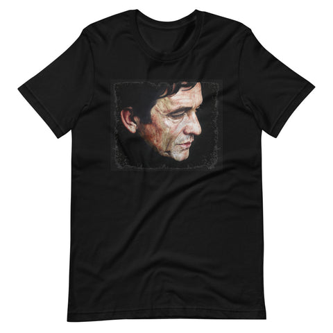 Johnny Cash in Black T-Shirt