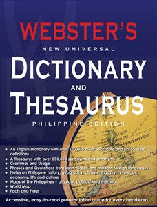 webster s new universal dictionary thesaurus philippine edition