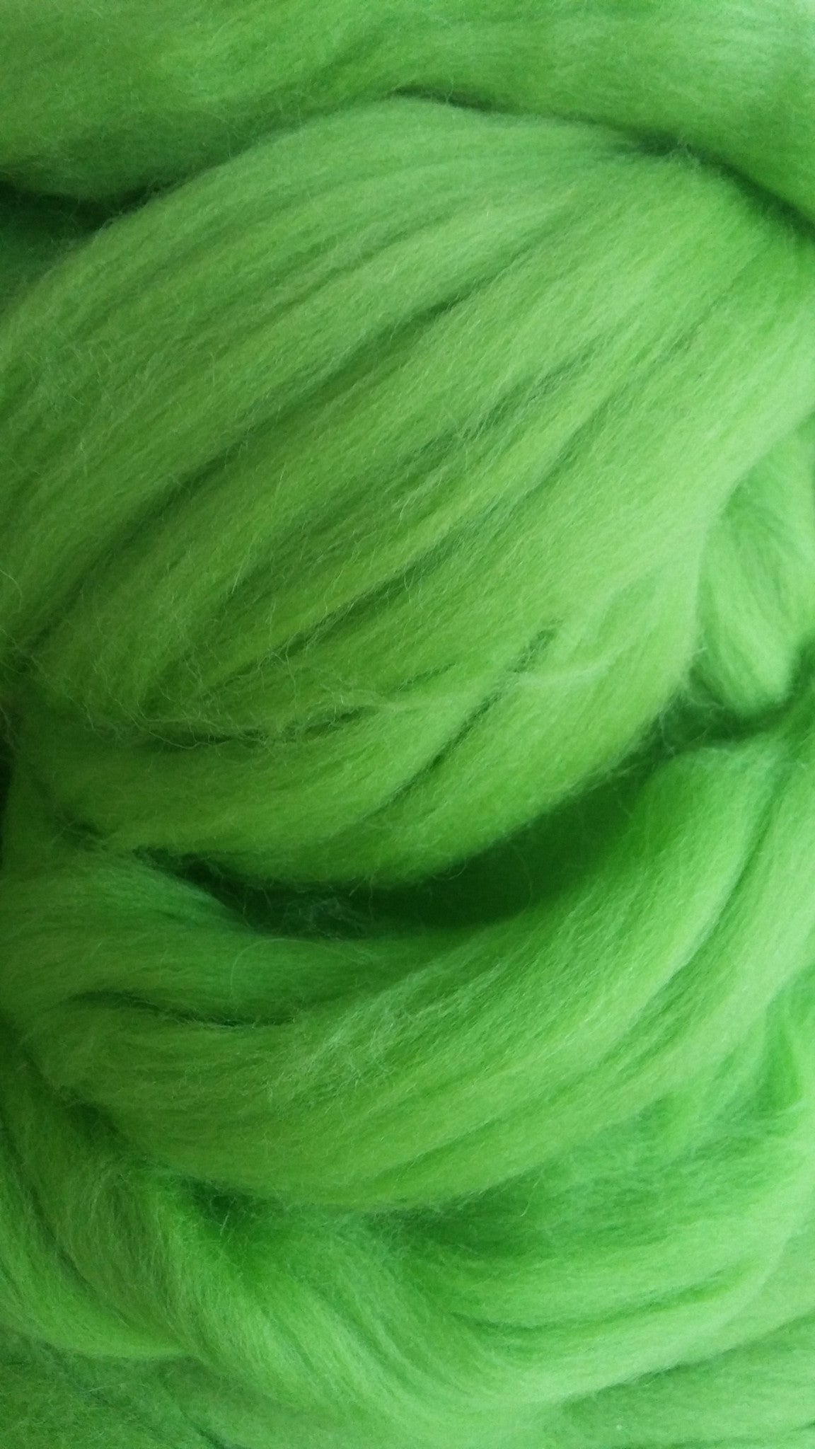 Green Merino Wool Top Roving