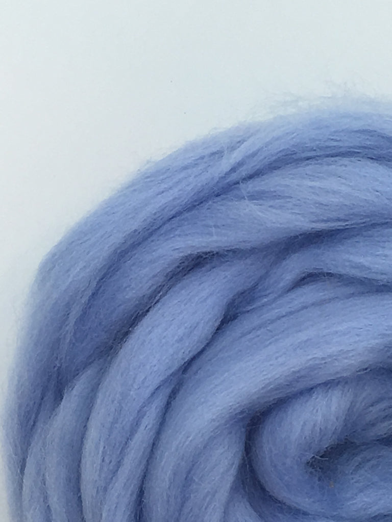 Baby Blue Roving, Blue Wool Roving, Light Blue Roving, Merino Wool Roving