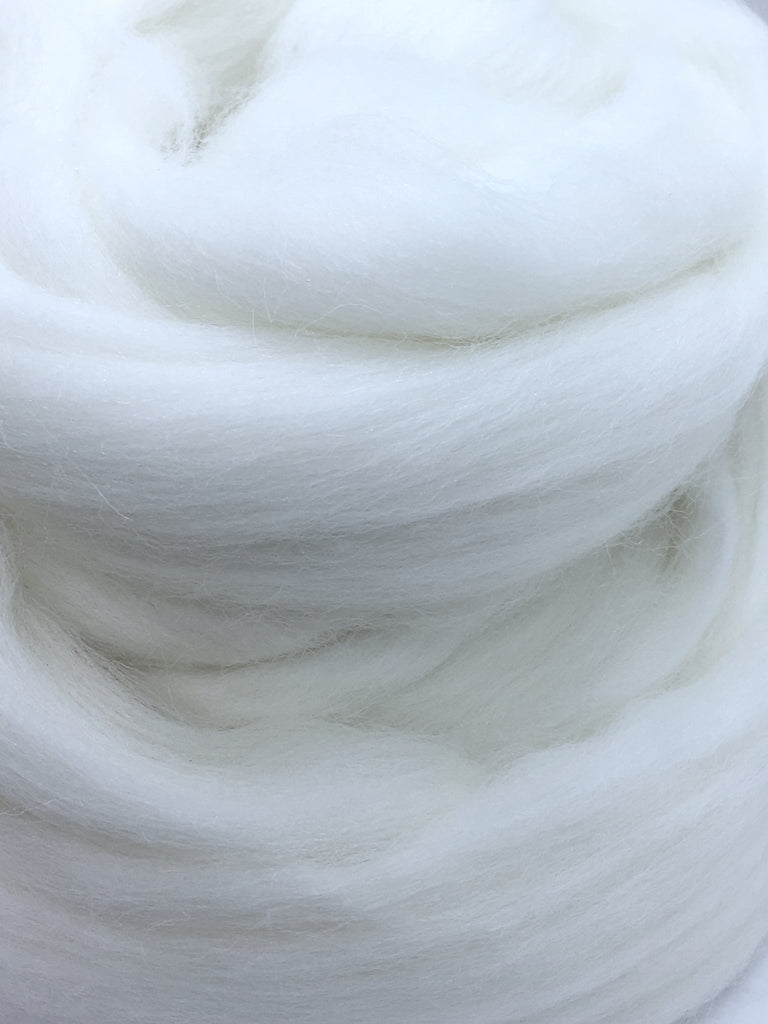 Diamond Bright White Merino Wool Top Roving