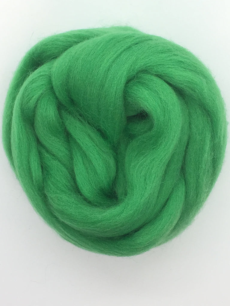 Kelly  Green Merino  Wool Top Roving (Shamrock Green)