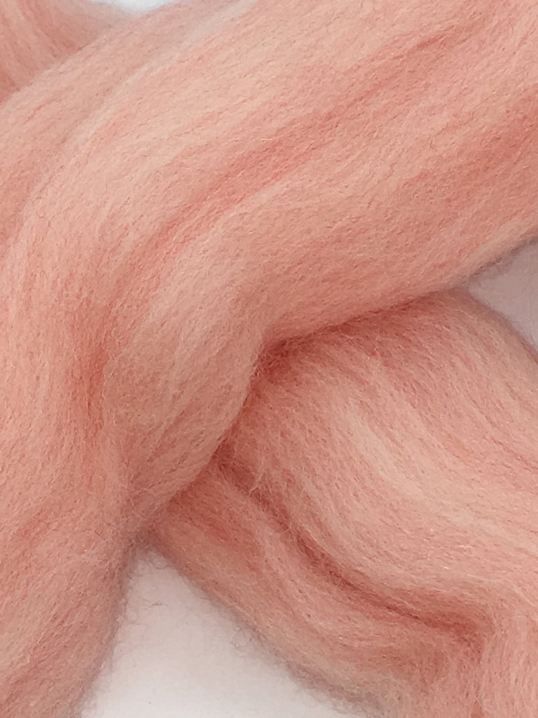 Pink Sands Merino Wool Top Roving