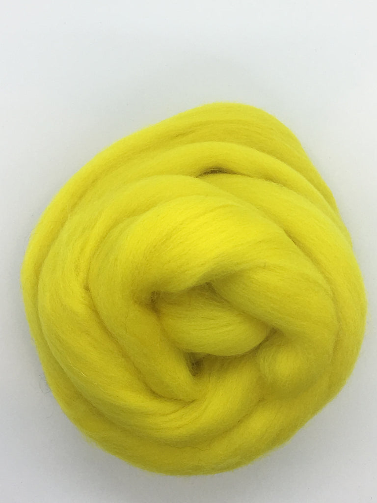 Lemon Drop Yellow Merino  Wool Top Roving