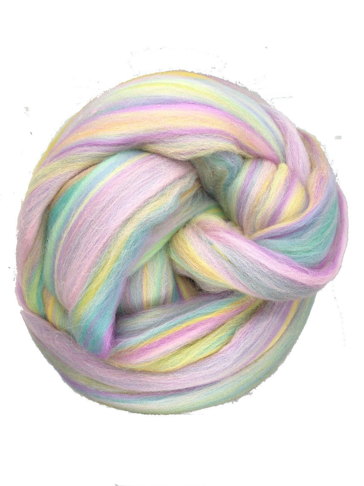 Wool Roving Pastel Rainbow wool fiber Top Roving