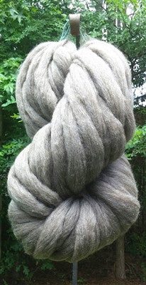 Gray Wool Top Roving Fiber Spinning, Felting Crafts USA