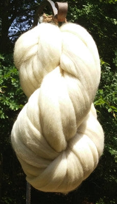 Falkland white wool top 1lb for spinning, dying, crafts, felting etc..Beautiful high quality!