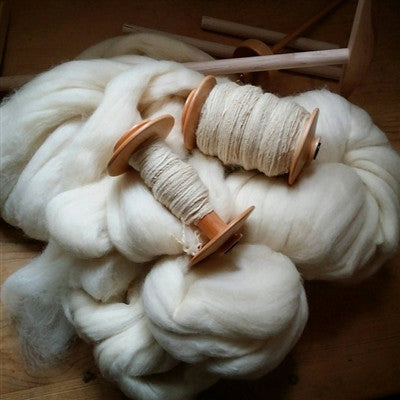 1lb pound White Wool Top Roving Fiber Spinning, Felting Crafts USA