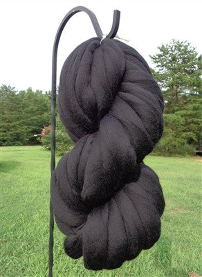 Black Noir Wool Top Roving