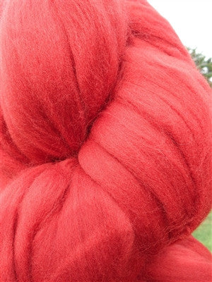 Cayenne Red Wool Top Roving