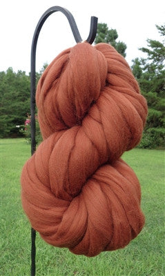 Chestnut Brown Wool Top Roving