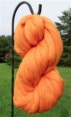 Clementine Orange Merino Wool Top Roving