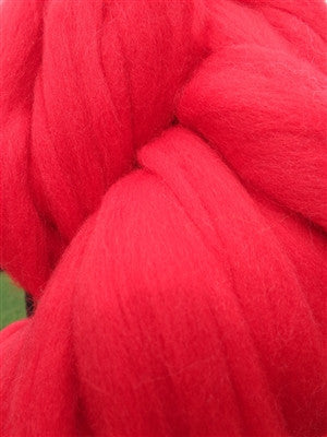 Red Merino Wool Top Roving