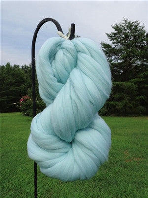 Robins Egg (Frozen) Blue Wool Top Roving