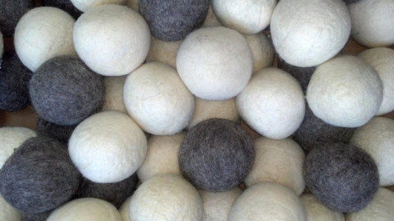 100 Count Wool Dryer Ball White/Grey