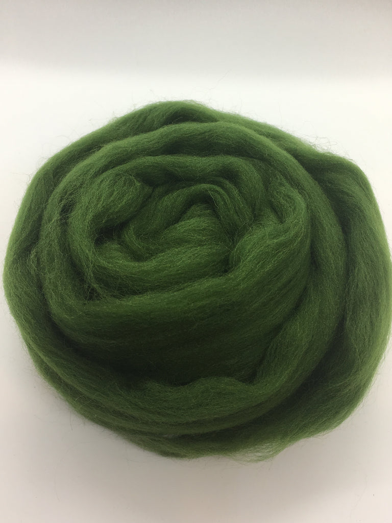 Spruce Hunter Green Merino  Wool Top Roving