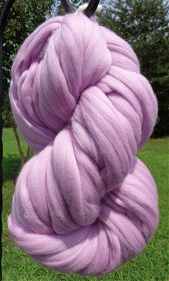 Lavish Lavender Wool Top Roving