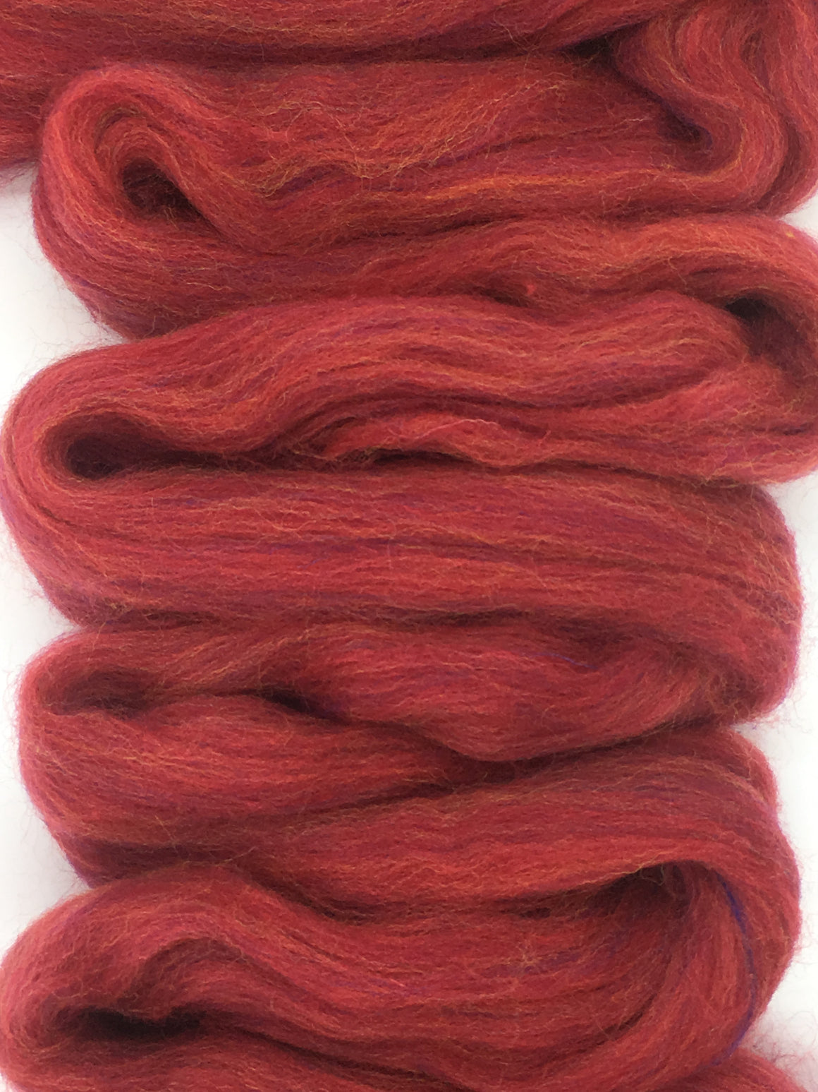 Persian Red Merino Wool Top Roving