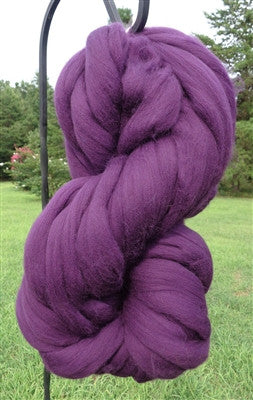 Purple Grape Wool Top Roving