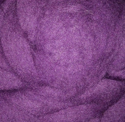 Purple Wool Roving, Purple Merino Roving, Purple Roving, Purple Spin Fiber, Purple Felting Wool