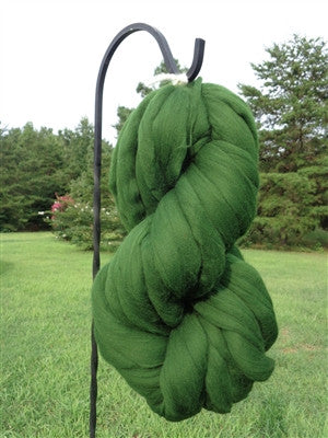 Spruce Green Wool Top Roving