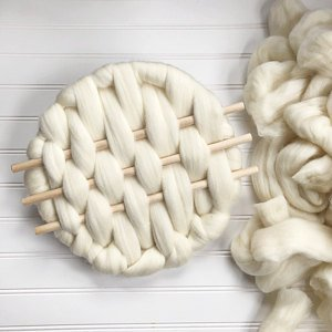 1 lb White Wool Roving, Roving, Spin Fiber, Felting Wool, Shep's Wool Roving, Felting wool, Roving Wool, Roving, Big Yarn