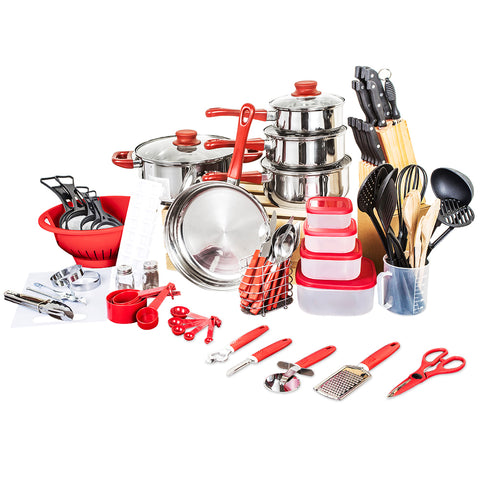 Quality Top Fashion Real Cookware Cooking Pots And Pans Set 80 Piece Starter Combo - Your Kitchen Ideas