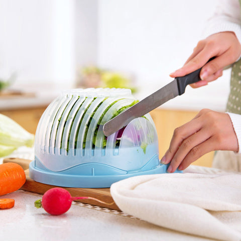60 Seconds Salad Cutter Bowl - Fruit & Vegetable Chopper - Your Kitchen Ideas