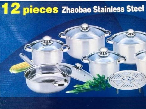 COOKWARE QUALITY SET utensils casseroles inox stainless steel - 12pcs cookware - Your Kitchen Ideas