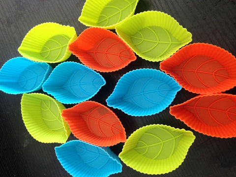 12pcs Muffin Silicone Mold Leaf-Shaped Cake, Muffin Silicone Mold - Your Kitchen Ideas