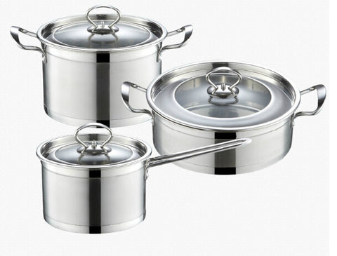 Stainless steel cookware set casserole pans and pots 3pcs cooking - Your Kitchen Ideas
