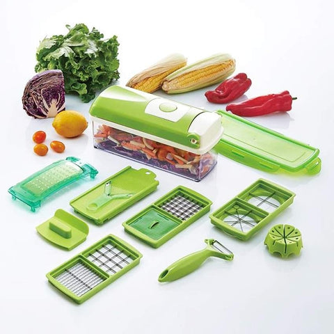 12-in-1 Multi-Functional Vegetable and Fruit Cutter / Chopper / Dicer / Slicer Kit - Your Kitchen Ideas