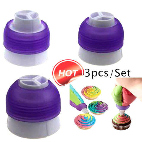 3 Color Coupler Cake Decorating Tool - Your Kitchen Ideas