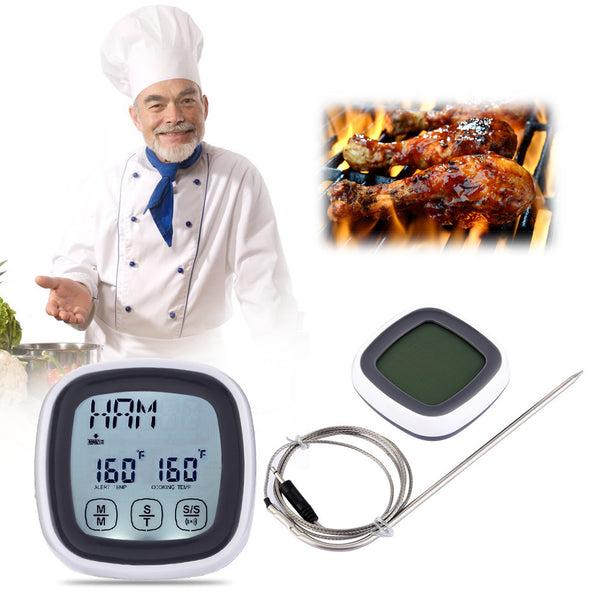 LCD Touchscreen Meat Thermometer and Timer - Your Kitchen Ideas