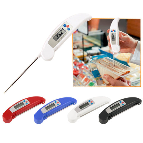 Instant Read Kitchen Thermometer with Collapsible Internal Probe - Your Kitchen Ideas
