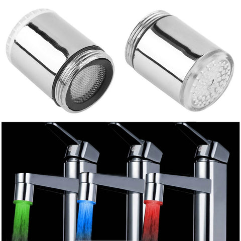 3-Color Water Glow LED Faucet Light Temperature Sensor - Your Kitchen Ideas