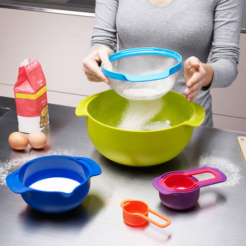 8-Piece Food Prep / Mixing Bowls / Measuring Cups Set - Your Kitchen Ideas