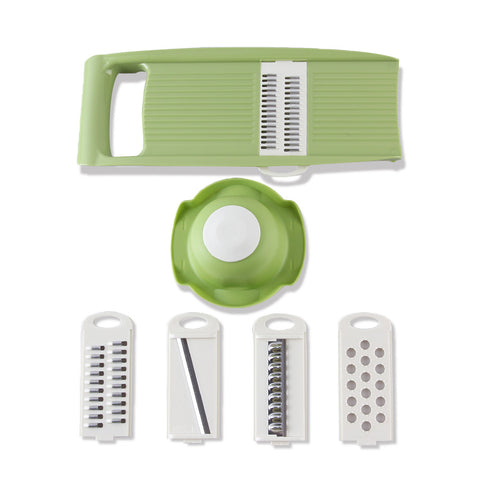 Multi-Functional Mandoline Slicer with 4 Interchangeable Stainless Steel Blades - Your Kitchen Ideas