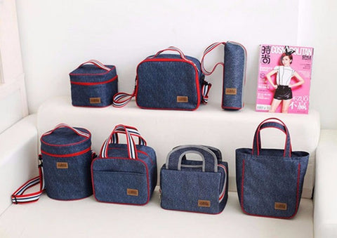 Denim Lunch and Picnic Bag with Inner Insulation - Your Kitchen Ideas