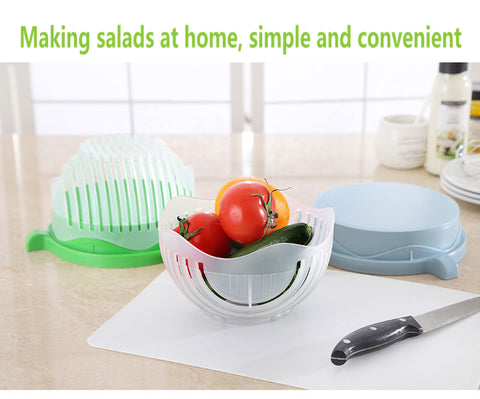 DeLuxe Edition 60-Second Salad Maker & Salad Cutter Bowl - Your Kitchen Ideas