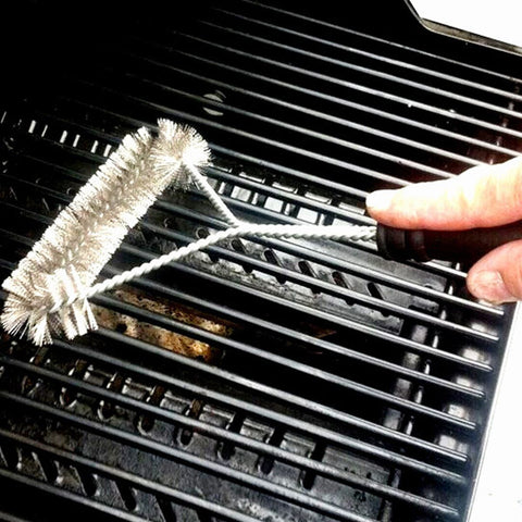Barbecue Cleaning Brush with Stainless Steel Wire Bristles - Your Kitchen Ideas