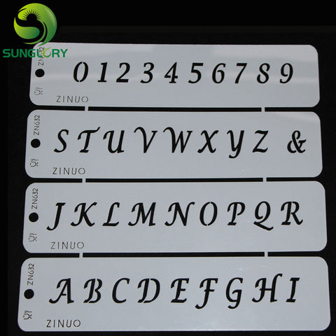Letters and Numbers Cake Decorating Stencils - Your Kitchen Ideas
